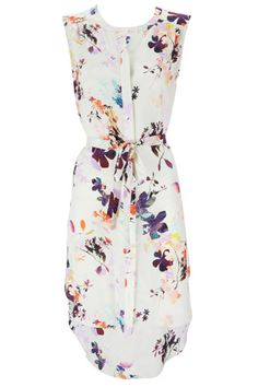 White Floral Print S...