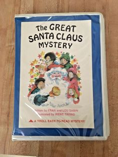 The Great Santa Claus Mystery Vintage Troll Easy to Read Book & Tape Set 1982