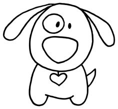 Dibujo de perro | Trazos sencillos | Pinterest