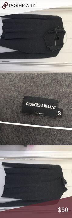 Giorgio Armani Men's sweater Gray Giorgio Armani men's sweater Giorgio Armani Sweaters V-Neck
