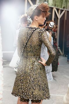 Backstage at Chanel Fall 2014 Couture, PFW.
