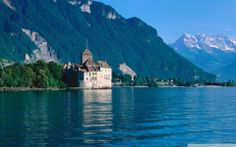 Chillon Castle, Geneva, Switzerland.  Definitely on my list of places to see next spring!