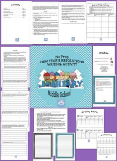 This is a No Prep New Year's Resolution Writing Activity for Middle School and Special  Education Classes. Students will be asked to write personal New Year's resolutions for themselves, for their family and friends, for school, and for the world around them. It will help them to realize their personal goals, and to feel good about themselves after they have achieved them.