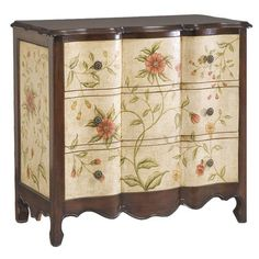Beautiful Floral Chest...wonder if I could redo my buffet like this?