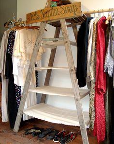 ladder closet by mayalu, via Flickr