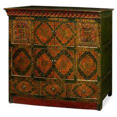 Marvelous Hand Painted Tibetan Cabinet