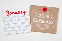 2015 Folding Calendar by Crispin Finn