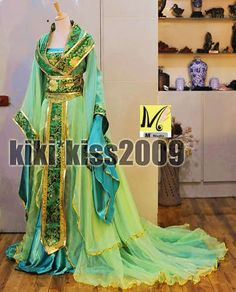 f33dc7e16d Details about China Kimono Lilac Fairy Girl s Purple Green Dress Cosplay  Custom-Made HanFu