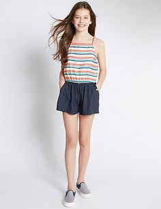 Striped 2-in-1 Playsuit (5-14 Years)