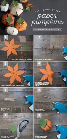 DIY Paper Pumpkin - Lia Griffith