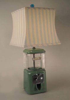 Repurposed gumball lamp. #btv #repurpose