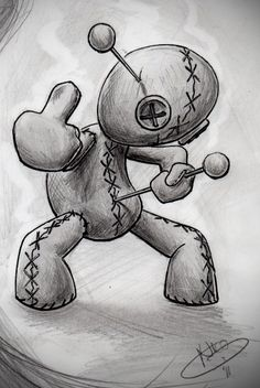 used to love voodoo when I was a kid, haha Voodoo Doll Tattoo, Voodoo Dolls, Cool Drawings, Tattoo Drawings, Body Art Tattoos, Mago Tattoo, Anime Echii, Totenkopf Tattoos, Desenho Tattoo