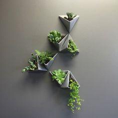 Tessellations // Modern Wall Planter // Set of 5 by MethodMfg on Etsy https://www.etsy.com/listing/249010340/tessellations-modern-wall-planter-set-of