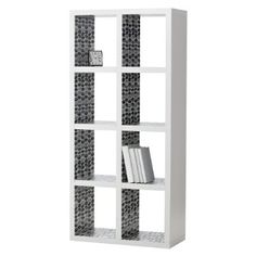 like the leaf print inside the cubes... could do this to my expedit bookcase from ikea