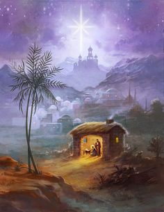 Leading Illustration & Publishing Agency based in London, New York & Marbella. Christmas Jesus, Christmas Scenes, Christmas Cards To Make, Christmas Nativity, Vintage Christmas Cards, Christmas Pictures, Bible Pictures, Jesus Pictures, Sunday School Crafts
