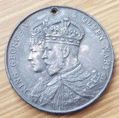 King George V & Queen Mary 1911 Mayor of Derby Coronation Medal Queen Mary, King George, Badges, Derby, Personalized Items, Badge