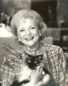 Many thanks from Betty White and Bob Cat.