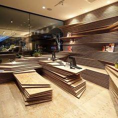 Design by Kengo Kuma. #wood ///  Diseño por Kengo Kuma. #d_signers