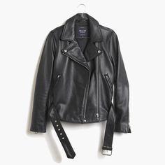 Ultimate leather motorcycle jacket, $528, madewell.com