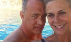 Tom Hanks cuddles up to wife of 28 years Rita Wilson in rare picture perfect selfie - Mirror Online Forrest Gump Actor, Oscar Winners, Secret To Success, Rare Pictures, When You Love, Ladies Day, Elvis Presley, Make You Smile