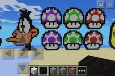 Three Mario mushrooms