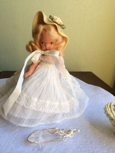 Nancy Ann storybook Doll  All in White by Jewelmoon on Etsy