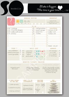 Daily planner, Letter size planner, printable planner inserts, life planner…