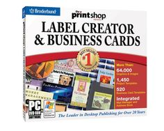 Print Shop Business Card  Label Creator (DVD) -   Desktop publishing software program for all your business publishing needs 2-in-1 DVD set includes Home  Office Labels and Business Card Creator 61,000+ images and graphics; 560+ plus fonts; 15,000+ templates Create unique business cards, mailing labels, CDs, stickers, and... - http://softwaredownloaddeals.com/print-shop-business-card-label-creator-dvd/ - http://softwaredownloaddeals.com/wp-content/uploads/20