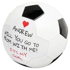 Will you go to prom with me personalized request soccer ball - tap/click to get yours right now! #soccerball #prom, #hoco, #homecoming, #request, #party, Top Soccer, Soccer Boys, Kids Sports, Creative Prom Proposal Ideas, Old Fashioned Games, High School Soccer, Will You Go, Family Fun Night, Soccer Gifts