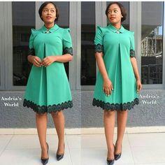 African Dress Patterns, Girl Dress Patterns, African Dresses For Women, African Attire, African Fashion Dresses, African Clothes, Cute Fashion, Fashion Outfits, Fashion Women