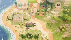 Animal Crossing Wild World, Animal Crossing Game, Pink Island, Nintendo Switch Animal Crossing, Rilakkuma Wallpaper, Motif Acnl, Ac New Leaf, Animal Crossing Qr Codes Clothes, Island Design