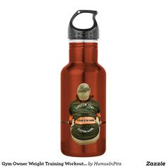 Gym Owner Weight Training Workout With Your Name 18oz Water Bottle