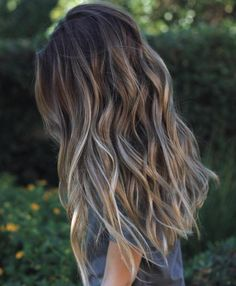 Long Brown Hair With Gray Highlights                                                                                                                                                                                 More