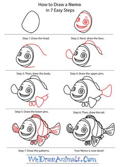 Super how to draw disney characters easy finding nemo ideas Disney Princess Drawings, Disney Drawings, Cartoon Drawings, Easy Drawings, How To Draw Nemo, Learn To Draw Cartoons, Cartoon People, Face Painting Designs, Character Design References