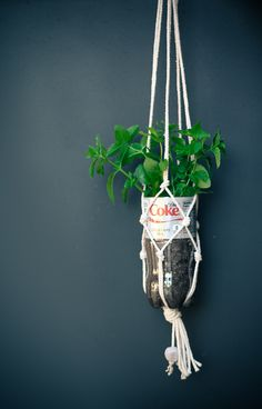 Easy DIY Macramé Bottle Holder