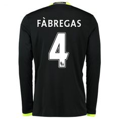 Chelsea 16-17 Cesc #Fabregas 4 Bortatröja Långärmad,304,73KR,shirtshopservice@gmail.com