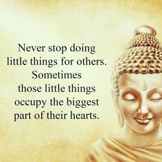As I've always said. The smallest gestures create the grandest impacts!