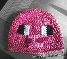 Minecraft inspired Pig hat | Betty's Banter