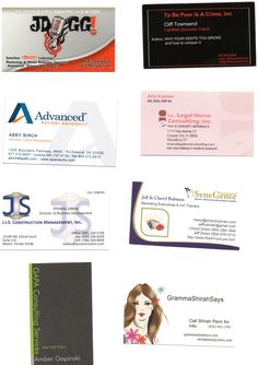 Luncheon attendees business cards