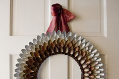How To Make a Unique & Festive Autumn Wreath Out of Plastic Spoons | Fab You Bliss