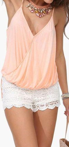 Peach  Lace ♡ L.O.V.E.