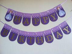 Banner de cumpleaños de Sofia la primera fiesta de por NiuDesigns
