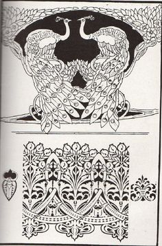 Page from Art Nouveau Design Art Book