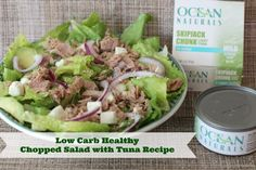 Low Carb Healthy Tuna Recipe – Chopped Salad With Tuna