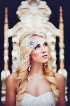Great Gatsby Headband, Flapper Style Silver Beaded Fascinator Wedding Headpiece. Beautiful and gorgeous makeover.