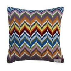 Jonathan Adler Bargello Flame Wool Pillow