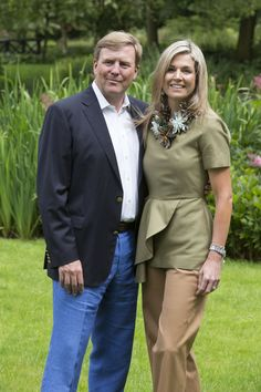 Pin for Later: The 1 Accessory Power Women Rarely Wear Queen Maxima of the Netherlands Amps Up Structured Outfits With Large Statement Pieces
