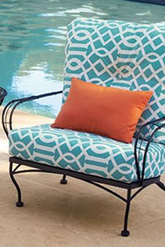 By my pool! Outdoor Seating, Outdoor Spaces, Outdoor Chairs, Outdoor Living, Outdoor Furniture, Outdoor Decor, Balcony Chairs, Porch And Balcony, Deck Makeover