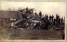 Train Wreck near Clinton, Iowa
