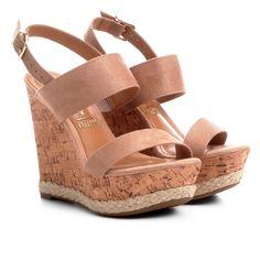 da53f56d63 Sandália Anabela Vizzano Espadrille Tiras Feminina - Bege (Acesse o link no  perfil para ver o preço e detalhes do produto).  sapatofeminino  sapato ...